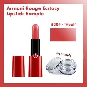 Armani rouge ecstasy lipstick sample heat